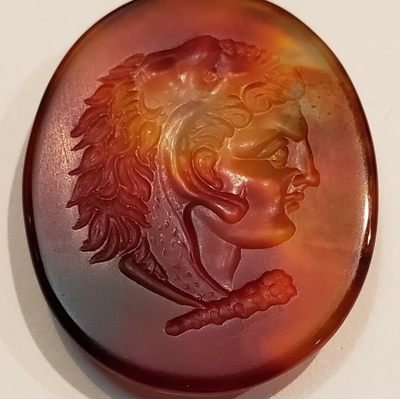 Engrave agate stone alexander the great